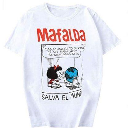 Camiseta salva el mundo de Mafalda