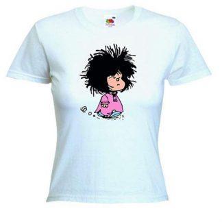 Camiseta blanca Mafalda para mujer