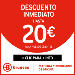 cUPÓN DE DESCUENTO DE 20 € bRUNEAU